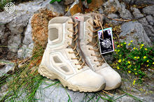 Military Tactical Combat  Boots winter sneakers for  men Ankle Desert Boots  Outdoor hiking climbing fishing black shoes