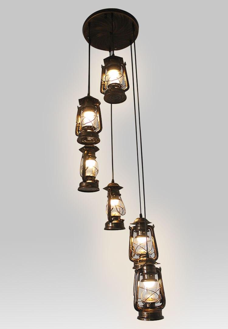 где купить Stairs lights retro Revolving stair pendant retro retro kerosene lamp stair lamp bar Cafe Vintage horse lamp Pendant Lights FG39 по лучшей цене