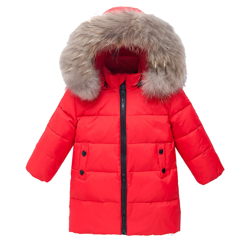 цена на Children Outerwear Winter Jackets Coats 80% White Duck Down Infant Overcoat Hooded Thick Preppy Style baby fashion dress
