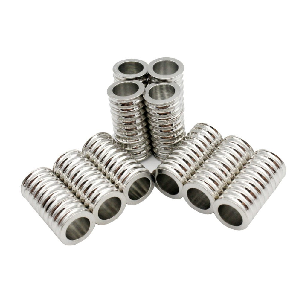 3 Pieces Magnetic Screw Clasps and Closure for Necklace Jewelry Making Bracelet Cord End 7mm Inner Hole Metal Connectors