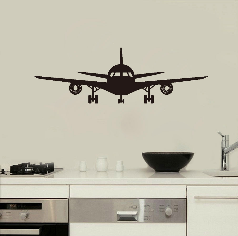 Delicieux Airplane Wall Decals Children Bedroom Decoration Transfer Film Wall Stickers  Home Decor Vinyl Art Mural In Wall Stickers From Home U0026 Garden On ...
