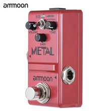 ammoon Guitar Pedal Heavy Metal Distortion Guitarra Effect Pedal Nano Series Guitar Effect Pedal True Bypass Aluminum Alloy Body
