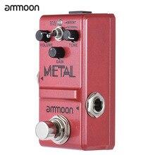 Педаль для гитары ammoon из тяжелого металла с эффектом искажений, педаль для гитары серии Nano, педаль для эффекта гитары, настоящий обход, корпус из алюминиевого сплава