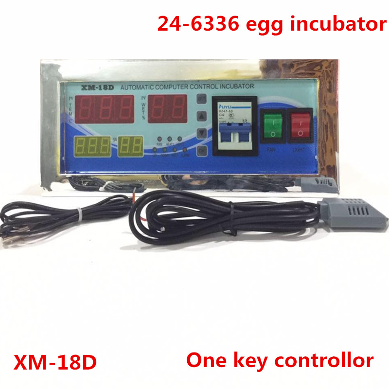 Full automatic egg incubator Controller XM-18D Thermostat with Temperature Humidity Sensors for sale  цены