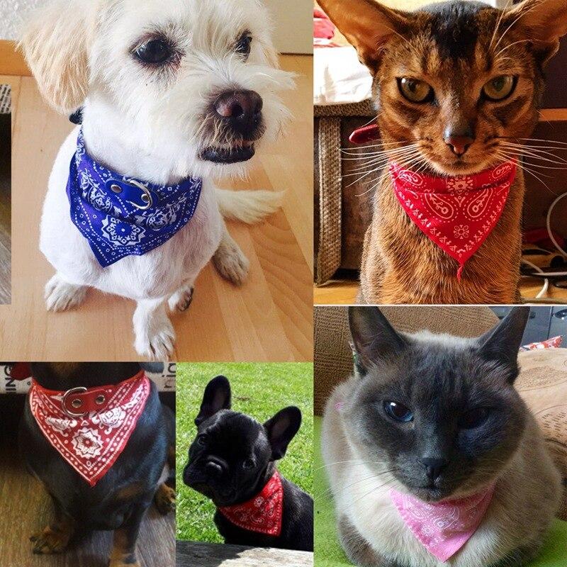 Dog Bandana Soft Plaid Cotton Dog Scarf Pet Bandana Puppy Bib Tie Triangular Bandage Chihuahua Collar For Cat Pet Products PQ003 (9)