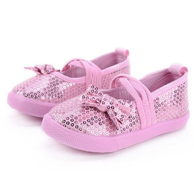 2017 Sparkling Sequins Glitter Toddler Girl Shoes Elastic Band Baby Girl Shoes Shiny Baby Girl First Walkers Flats Sneakers Kids