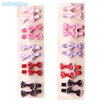 20pcs/pack Beautiful Lace Bowknot Hair Clip Lovely Polka Dots Hairpins Barrettes Girls Kids Trinkets Hair Accessories