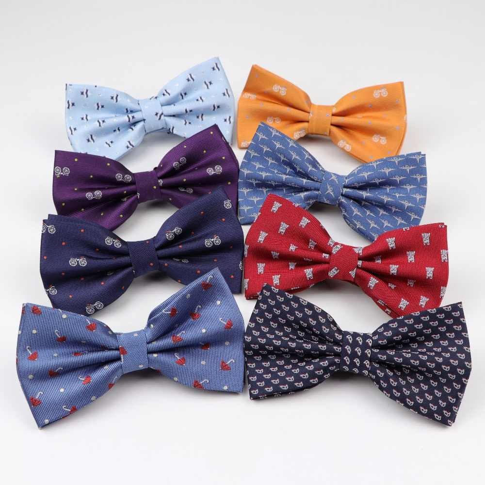 db42c59a6fd7 Solid Fashion Bowties Groom Normal Painted Cravat Butterfly Gravata Women  Umbrella Car Fish Aircraft Bicycle Wedding
