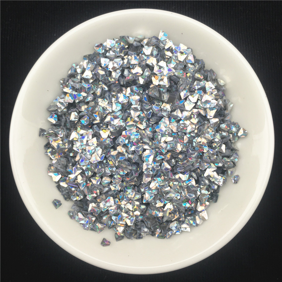 100g/Lot 3mm Hologram Silver Diamond Shape loose sequins Paillette wedding Craft,DIY Nail Manicure art,Party Decoration Confetti