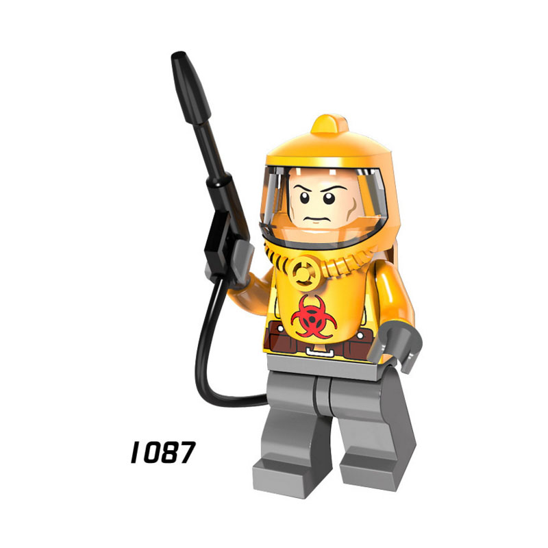 Legoings Fire-fighting Anti-chemical Clothers Zombie SuperHero StarWars Block Dolls Kids DIY Toys Hobbies Legoing PG8081 Figures