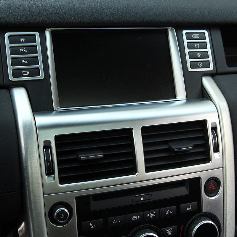 Chrome Styling GPS Screen Panel Trim Multimedia Button