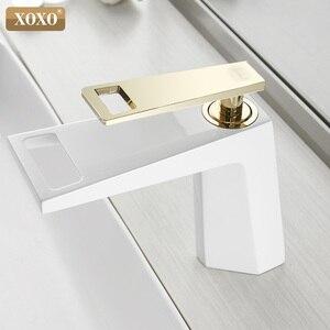 Image 5 - Смеситель для ванной XOXO 80015, черный/белый, водопад, одна ручка