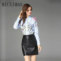 2018 Latest Spring New Arrival Fashion Tops Full Sleeve Turn Down Collar Floral Printed Casual Shirt