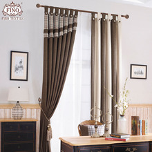 Plaid Window Curtains Drapes For Living Room Blackout Bedroom Fabric  Curtain Coffee Soft Blinds Home Curtains