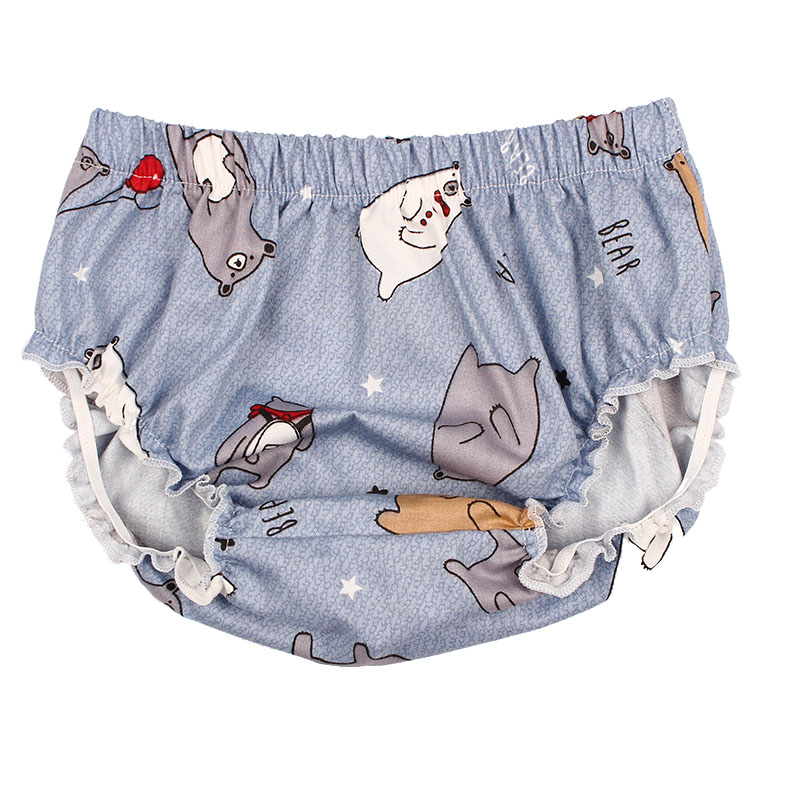 Baby Bloomers Cotton Shorts For Girls Boys PP Shorts Children Harem Short 3 Color Cartoon Bear Print Newborn Clothes in Shorts from Mother Kids