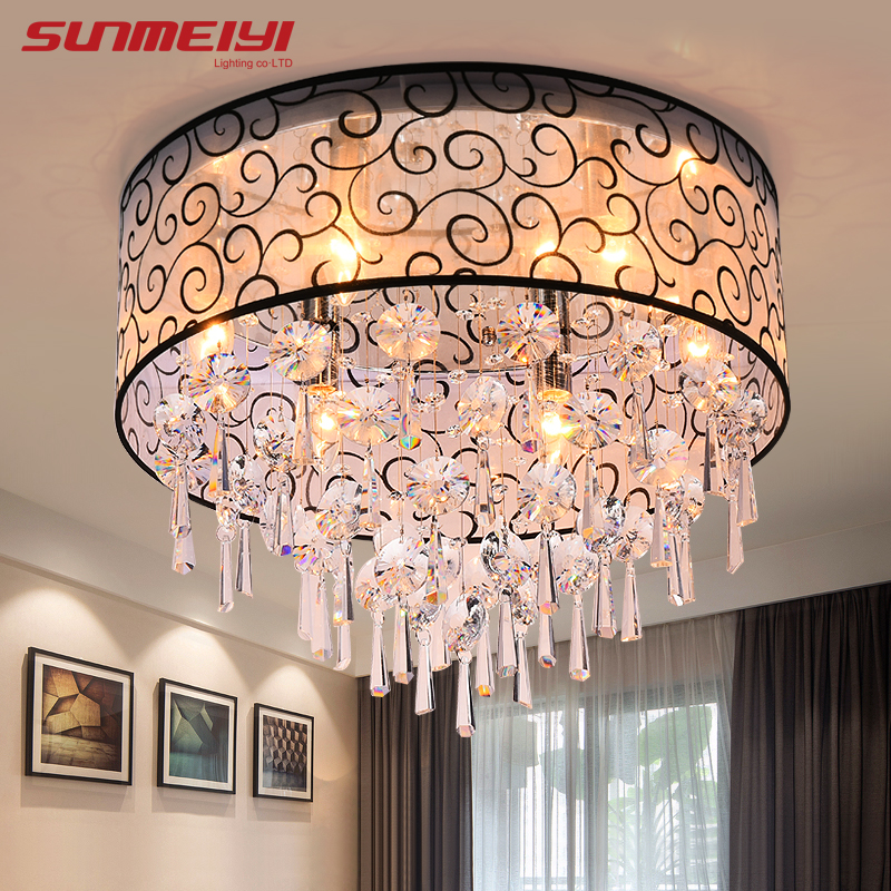 Ceiling Lights & Fans 2019 Fashion Led Ceiling Light For Living Room Surface Mounted Crystal Abajur Ceiling Lights Crystal Lamp Ceiling Ac110v 220v 240v
