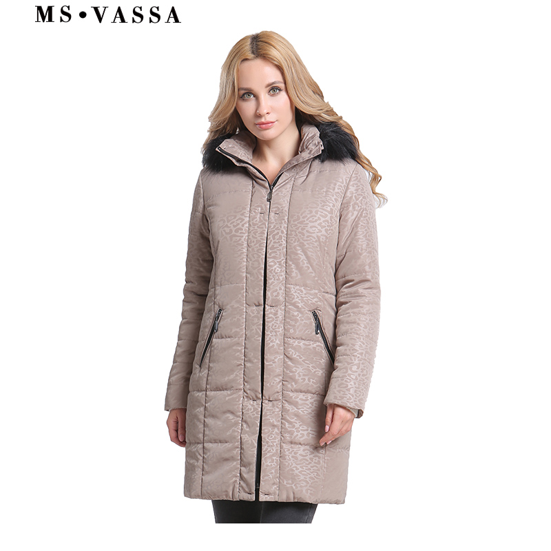 MS VASSSA 2018 New Women Jacket Winter   Parkas   Autumn Warm Coat Hooded with Fake Fur Plus Size 6XL 100KG Female Outerwear