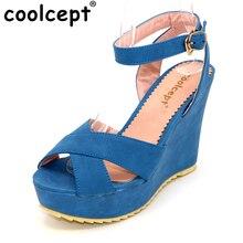 CooLcept P13918 качественные Босоножки на платформе с бесплатной доставкой женские сексуальные модные туфли на платформе женская обувь P13918 Горячая распродажа! EUR размер 34-39