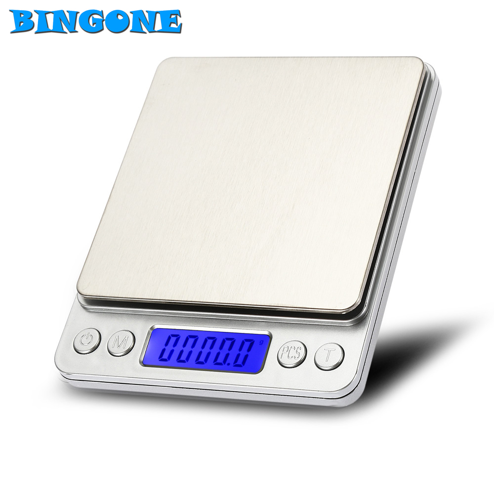 Bingone Portable 3Kg/0.1g Electronic Digital Kitchen Scale Mini Jewelry Weight Balanca Digital Scale Cooking Measure Tools -TZ