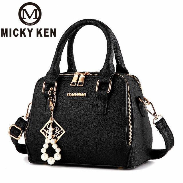 a8a07404323 MICKY KEN marca 2018 cuero mujeres bolsos de mensajero hombro famoso  Crossbody señora bolso Lolita maletín