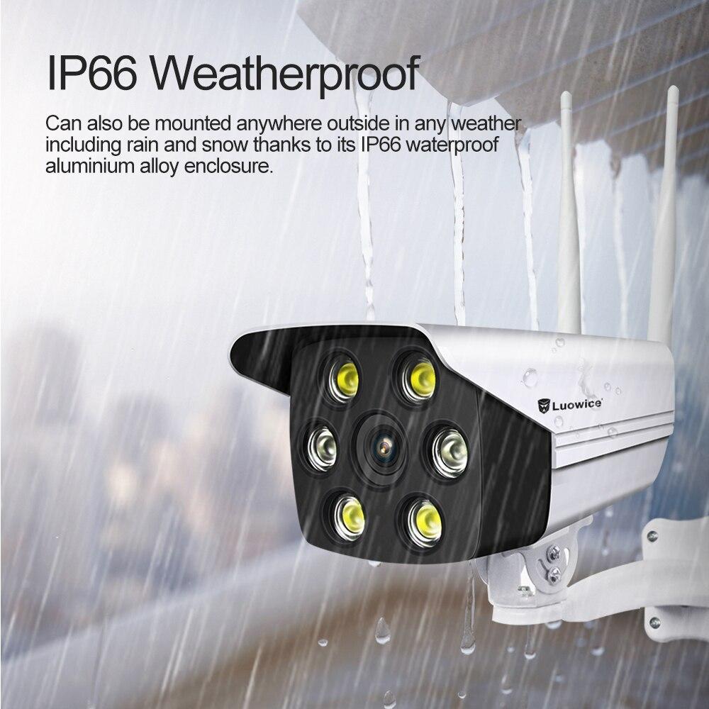 3MP security outdoor ip camera 8MM 6 Light night vision video surveillance waterproof  Wifi wireless Bullet cctv camera 1080p