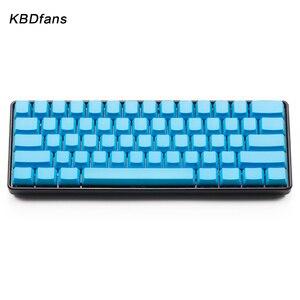 Image 5 - White Black Orange blue  Blank Thick PBT OEM Profile 61 ANSI Keycaps For MX Switches dz60 gh60 Mechanical Keyboard