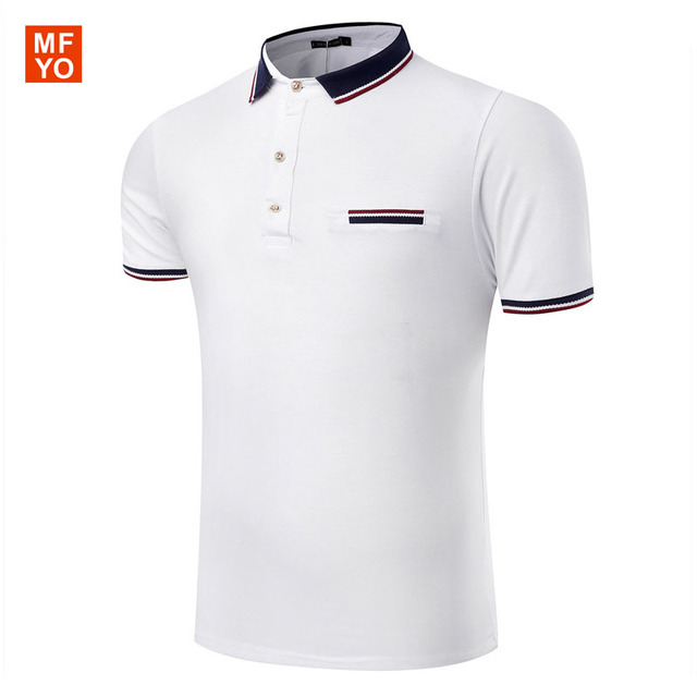 2016 New Brand Business Casual Men's Polo Shirts Summer Style Polos Short Sleeve Solid Shirt Jerseys Blouse