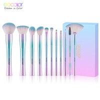 Docolor 11PCS Make Up Brush Set Best Christmas Gift Powder Foundation Eyeshadow Make Up Brushes Cosmetic