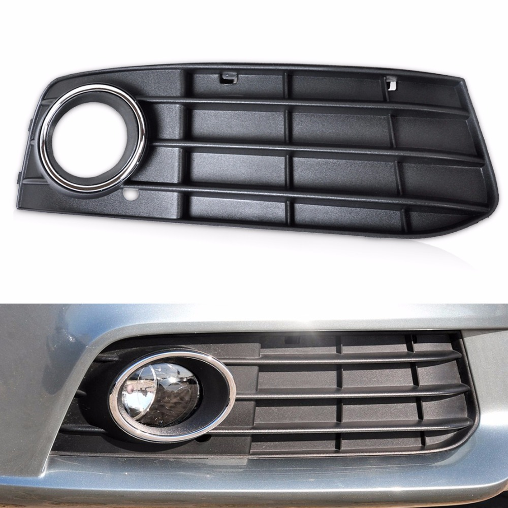 DWCX 8K0807682A 01C Front Right Bumper Fog Light Lamp Cover Grille For Audi A4 B8 2008 2009 2010 2011 2012 one pair protective front left right bumper fog light lamp grille covers for a udi a8 s8 q uattro d3 2006 2007 2008