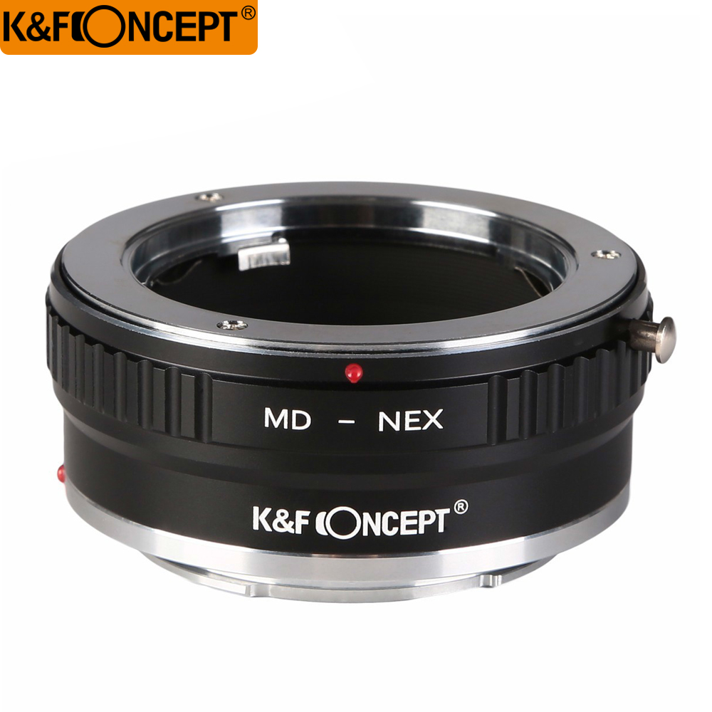 K&F Concept All-copper interface high-precision lens adapter for Minolta MC/MD Mount Lens to Sony NEX NEX-5 7 3 F5 Emount Camera цена и фото