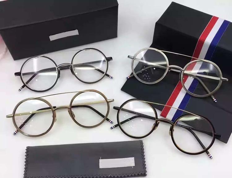 2017 New Fashion wizard Titanium Thom Eyeglasses Frames Men women round Vintage Eyeglasses with original box