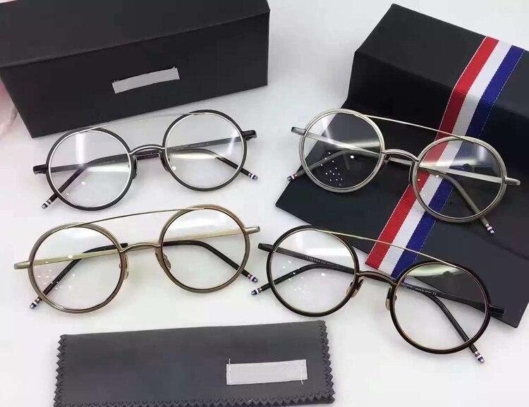 2017 Neue Mode-assistent Titan Thom Brillen Frames Männer Vintage Brillen Mit Ursprünglichem Kasten Oculos De Grau