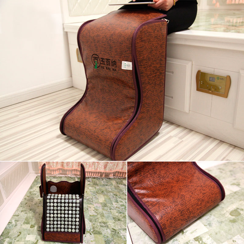 New Arrival Korea Jade cushion Heating Massage Korea Jade Foot Massage Natural Electric Heating Foot Barrel Free Shipping newest drivers car massage cushion seat jade heating kneading massage cushion free shipping