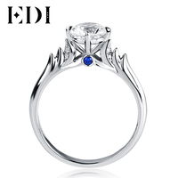 EDI Distinctive 1CT Moissanite Swan Fairy Tales 10K White Gold Lab Grown Diamond Ring For Women Fine Jewelry Halloween Gifts