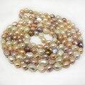 64 дюйм(ов) 11-12 мм Многоцветный Барокко Жемчужное Ожерелье Длинная Цепь