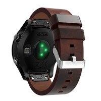 2017 хорошие продажи роскошный кожаный ремешок замена часы ремешок для Garmin Forerunner 935 oct.23