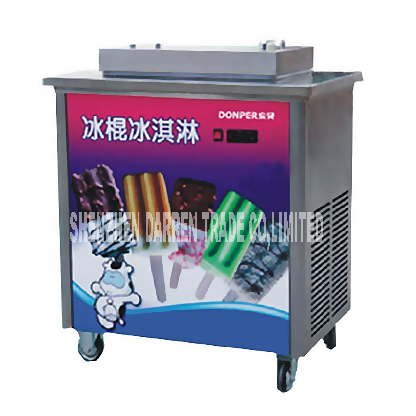100~120PCS/H Stainless Steel Commercial Popsicle Machine Ice Cream Lolly Stick Machine Hard Ice cream Maker ZX40A 220V/110V HOT contrast panel chest pocket tee