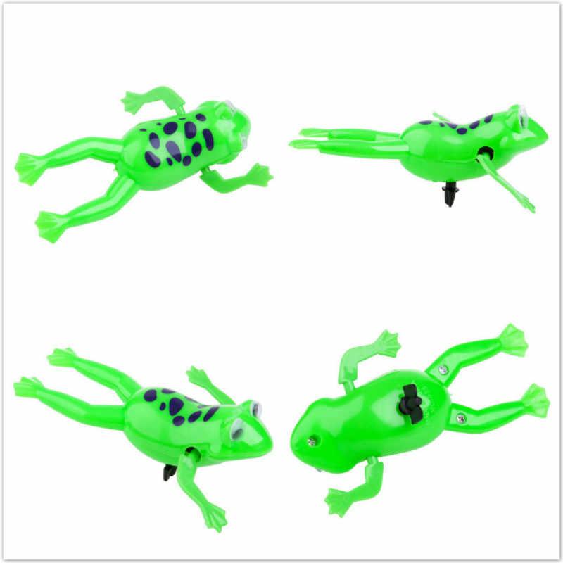 Venda quente Movimento Relaxar Swimming Frogs Clockwork Sapo Banho Do Bebê de Brinquedo Brinquedo Wind Up Toy For Kids Presente Das Crianças