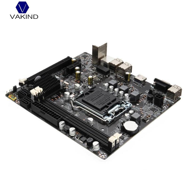 VAKIND Motherboard 1155 DDR3 PCIE Micro ATX 10 USB Ports For Intel H61 Socket LGA Support Core i7/ i5/i3/Pentiun/Celeron industrial embedded h61 mini itx motherboard support lga1155 intel core i3 i5 i7 pentium 22nm 32nm cpu with 9 usb 6 com