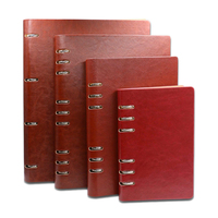 2015 2016 B5 Leather Agenda Book For Women Schedule Organizer Secretary 6 Rings Sprial Notebook