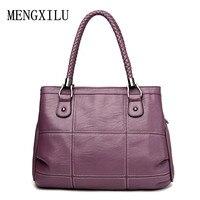 Thread Luxury Handbags Women Bags Designer PU Leather Fashion Shoulder Bag Sac A Main Marque Bolsas