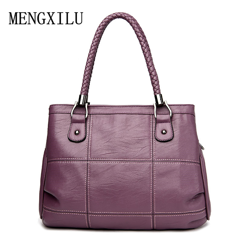 Thread Luxury Handbags Women Bags Designer PU Leather Fashion Shoulder Bag Sac a Main Marque Bolsas Ladies Tote Women Handbags dizhige brand 2017 fashion thread crossbody bags plaid pu leather bags women handbags designer shoulder bags ladies sac spring