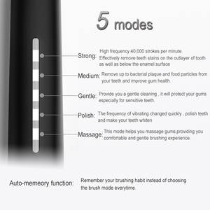Image 4 - を SEAGO ソニック歯ブラシ充電式電気ブラシ歯歯ブラシセット旅行のための防水電気ブラシ旅行ケース