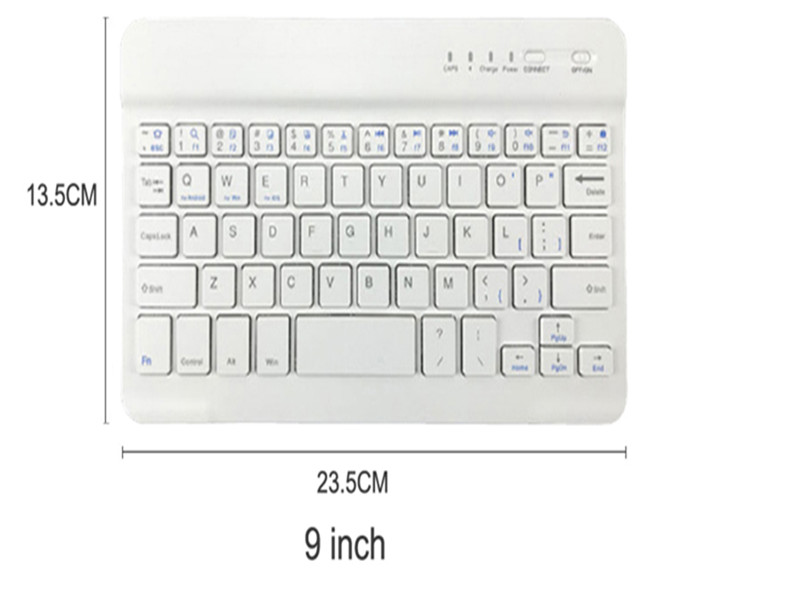 Image 3 - 8/9/10 pulgadas Mini Bluetooth Keyboard Wireless For iPad Apple iPhone Tablet Android Smart Phone Windows iOS Portable  Keyboard-in Keyboards from Computer & Office