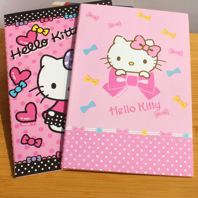 1 Pcs Cute Portable Notebook Hello Kitty Series Agenda Planner Office School Notes Book Lovely Filofax Stationery Notepad Gifts