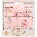 (13 pçs/set) Bebê Recém-nascido 0-12 M Conjunto de Roupas dos desenhos animados fox Manga longa novas roupas de bebê nascidos menino/Menina roupa Do Bebê presente de natal