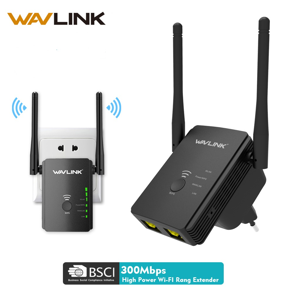Wavlink N300 Original Wireless Wifi Repeater 300mbps Rango Universal Router inalámbrico con 2 antenas AP Router Extender Mode