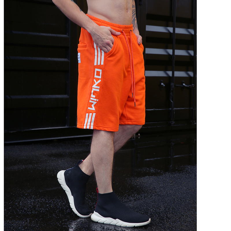 2018 Hot Sale Side Lettering Print Shorts New Fashion Men Shorts Trousers Men Shorts Summer Elastic Waist Men Short Sweatpants