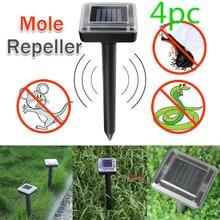 4 teile/satz Ultraschall Solar Power Maus Repeller LED Licht Outdoor Lampe Garten Hof Maulwurf Ratte Nagetier Mit Solar Panel