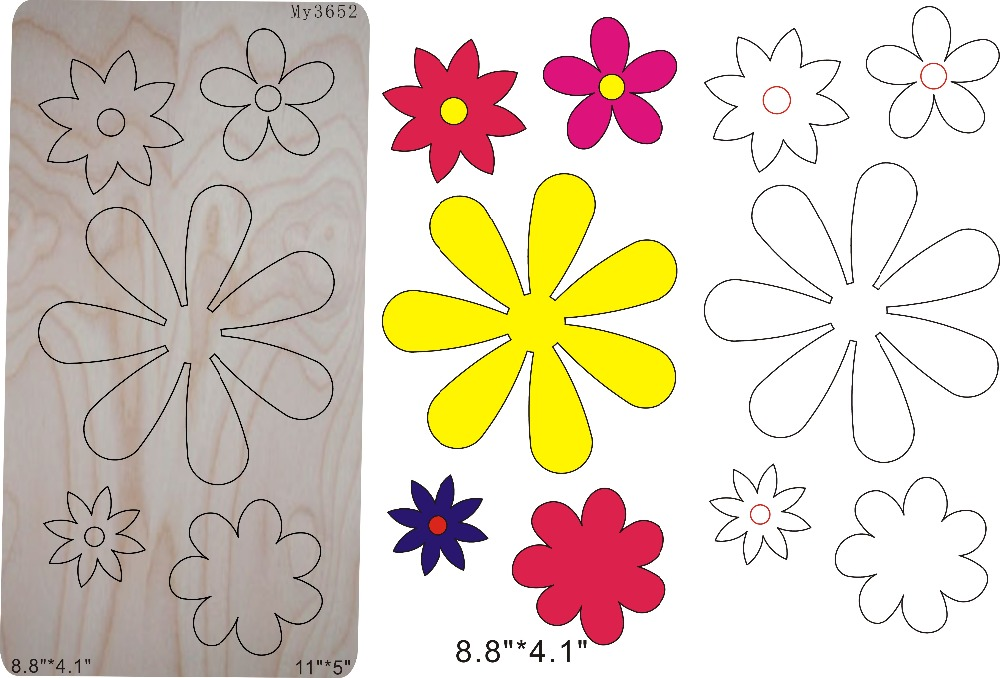 Beautiful flower bones multi purpose & Wooden dies for scrapbooking, fit   machineBeautiful flower bones multi purpose & Wooden dies for scrapbooking, fit   machine